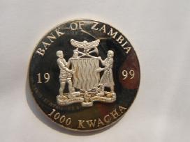 Zambija 1999m 1 000 kwacha