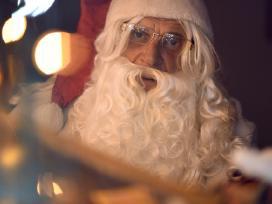 Profesionalus kalėdų senelis.