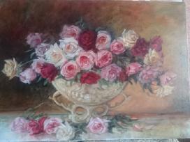 """Rožės gipso vazoje"""" 50x70 cm, 201 - nuotraukos Nr. 9"""
