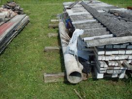 Statybos likuciai, naudoti gatves bordiurai