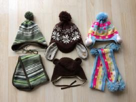 Kepurės, šalikai, pirštinės po 5 Eur