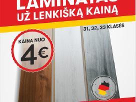 Laminatas Vokiškas,grindys ,sienos,lubos, lentelės