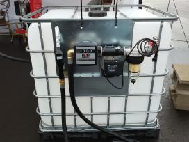 Dyz. kuro išpilstymo įranga ir ibc konteineris