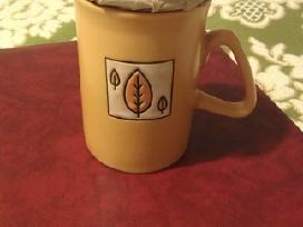 Plikomai arbatai puodelis, keramikinis, naujas.