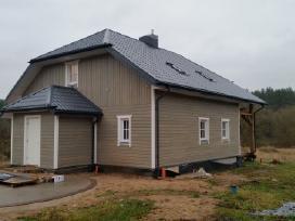 Karkasiniai namai, stogai, skardinimas, renovacija