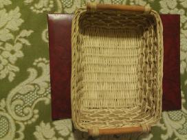 Iš vyteliu pintas krepšelis