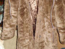 Naujas dirbtinio kailio paltas 36 /8/s - nuotraukos Nr. 2