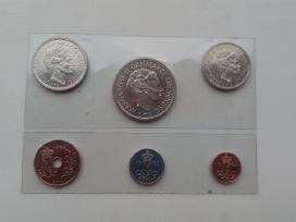 Danijos monetos Unc 1985