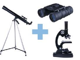 Liko nedaug: teleskopas, mikroskopas, žiūronai