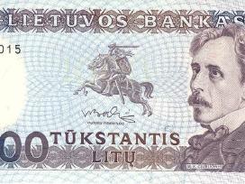 Lietuva 1991 m. 1000 litų banknotas Unc