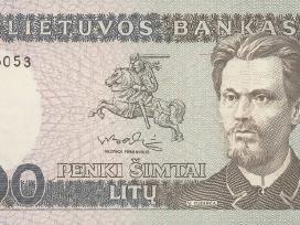 Lietuva 1991 m. 500 litų banknotas Unc