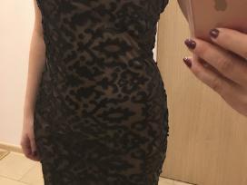 Parduodu suknelę su odinėm detalėm-akcija