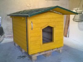 Šuns būda, namas, apšiltinta, medinė, Klasika
