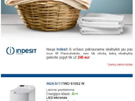 Skalbimo mašina Indesit Itwd61052w eu