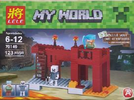Minecraft figureles,konstruktoriai,raktu pakabukai
