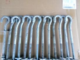 Metaliniai strypai-kabliai