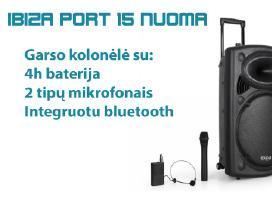 Garso kolonėlės nuoma Ibiza Port15 su baterija