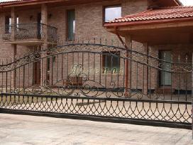 Kalviški vartai grotos turėklai tvoros stogeliai - nuotraukos Nr. 2