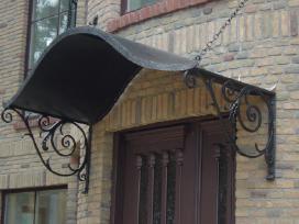 Kalviški vartai grotos turėklai tvoros stogeliai - nuotraukos Nr. 3