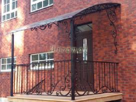 Kalviški vartai grotos turėklai tvoros stogeliai - nuotraukos Nr. 5