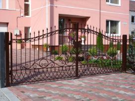 Kalviški vartai grotos turėklai tvoros stogeliai - nuotraukos Nr. 16