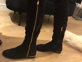 Zomšiniai ilgaauliai batai