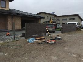 Mūro darbai,apdailinis mūras,pertvaros,tvoros!