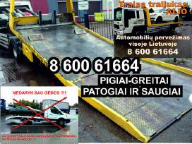 Tech. pagalba kelyje , tralo paslaugos evakuatoriu