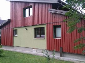 Karkasiniu namu statyba, stogu dengimas, terasos - nuotraukos Nr. 9