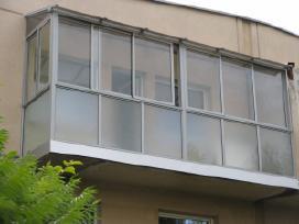 Pavesines, verandos, balkono stiklinimas aliuminio