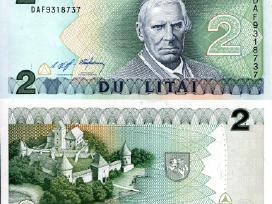 2 Litai 1993m., banknotas, Valančius, Unc.,