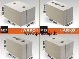 Arko M silikatiniai mūro blokeliai
