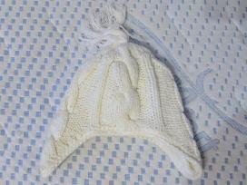 Balta šilta kepurė 1 metų vaikui - nuotraukos Nr. 2