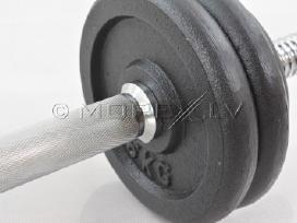 Metalo hantelis 2 x 15 kg - nuotraukos Nr. 4