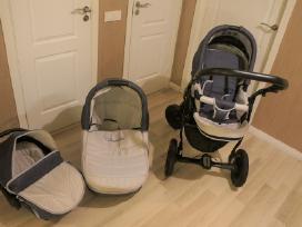 3 daliu vaikiškas vežimėlis