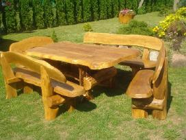 Azuoliniai lauko baldai,pavesines suliniai supynes - nuotraukos Nr. 16
