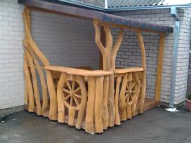 Azuoliniai lauko baldai,pavesines suliniai supynes - nuotraukos Nr. 18