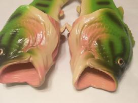 Nuotaikingos prikolnos žuvies formos šlepetės