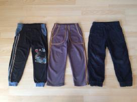 Velvetinės, sportinės kelnės 116cm