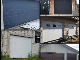 Pakeliami segmentiniai garazo vartai, automatikos.