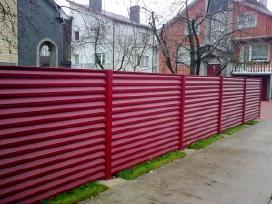 Plieninė čerpė Trapecinė skarda Skardine tvora. - nuotraukos Nr. 9
