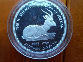 Reta sidabrinė Jordanijos 2,5 dinarų moneta, 1977