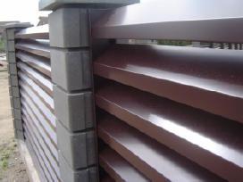 Plieninė čerpė Trapecinė skarda Skardine tvora. - nuotraukos Nr. 10