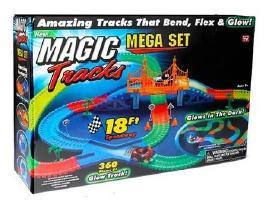 Magic traks šviečianti lenktynių trasa 360dalių