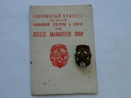 1948 m.lietuviui sportininkui iteiktas zenklas
