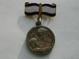 Motinystes medalis 1 laipsnio sidabras