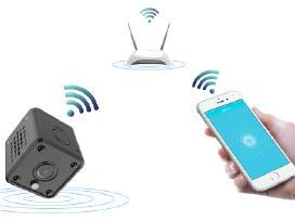 WiFi ip slapta kamera su naktiniu matymu