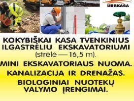 Tvenkinių kasimas sulyginimu nuo210€.ekskavatorius