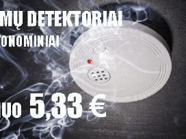 Dūmų detektoriai 5,33 eur Din En 14604 Prancūzų