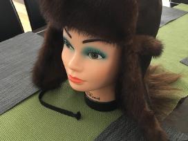 Nauja natūralaus avikailio kepurė